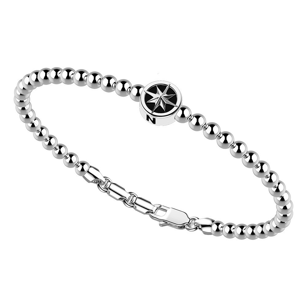 Bracciale con sfere in argento e stella.