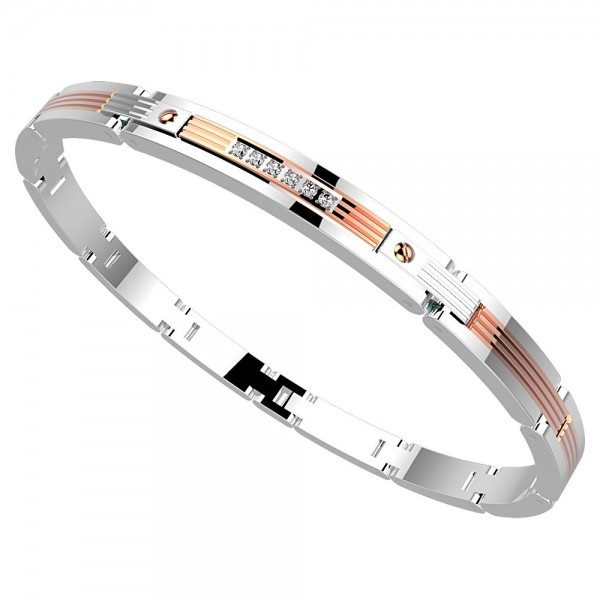 Zancan steel bracelet with...