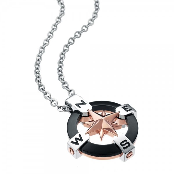 Zancan steel necklace with...