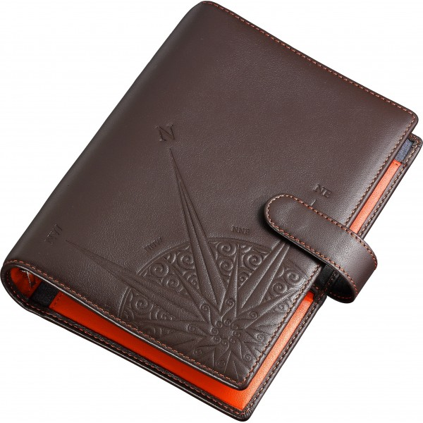 Brown leather organizer...