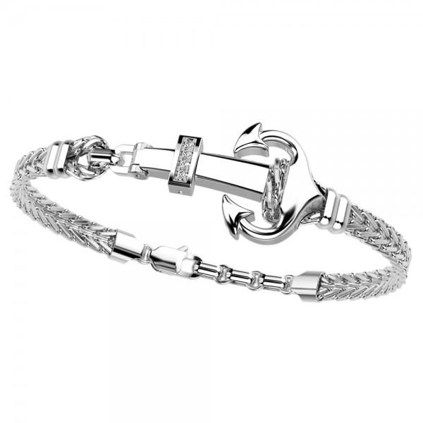 Bracciale in argento e zaffiri bianchi.