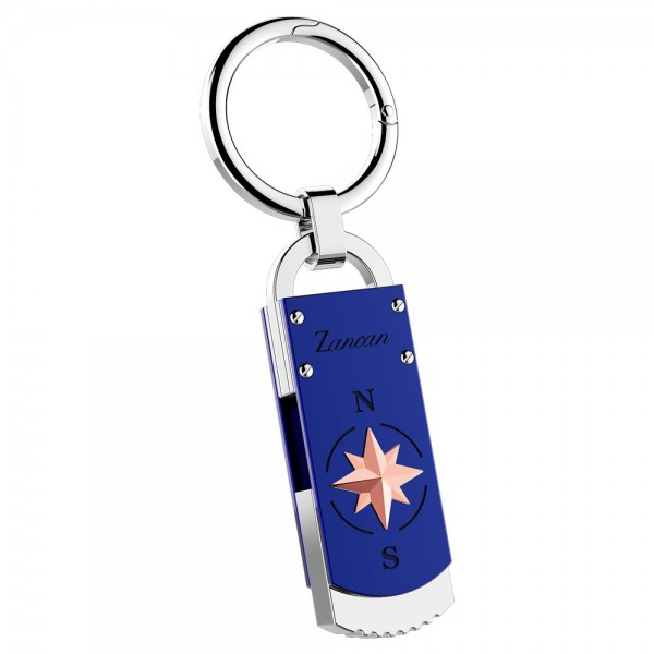 Stainless steel keyholder with USB