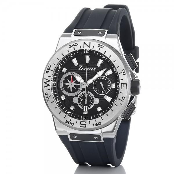 Kompascrono – Orologio cronografo da uomo con datario.
