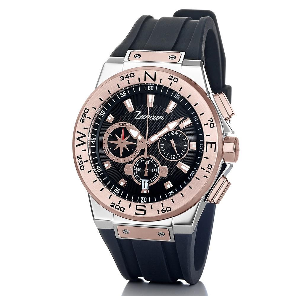 Kompascrono – Orologio cronografo da uomo con datario