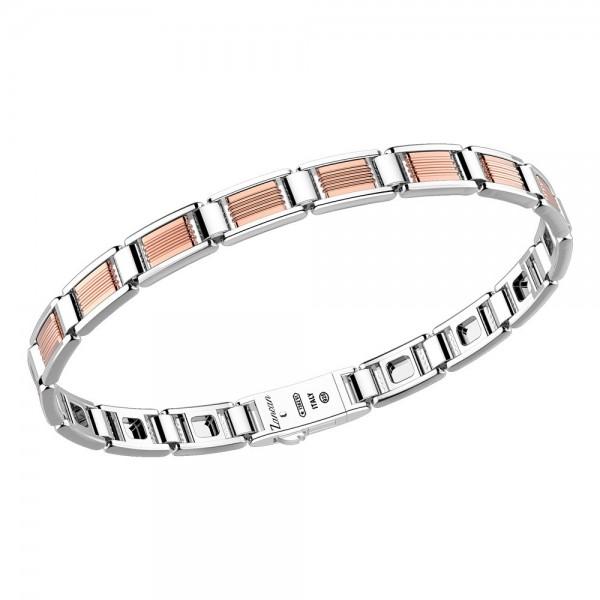 Rose gold and silver bracelet.