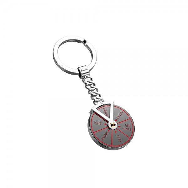 Game keychain in stainless steel.