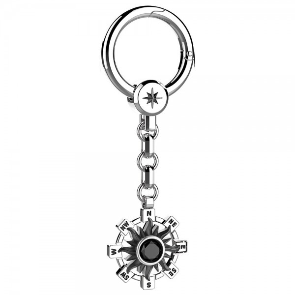 Silver keyholder with sun