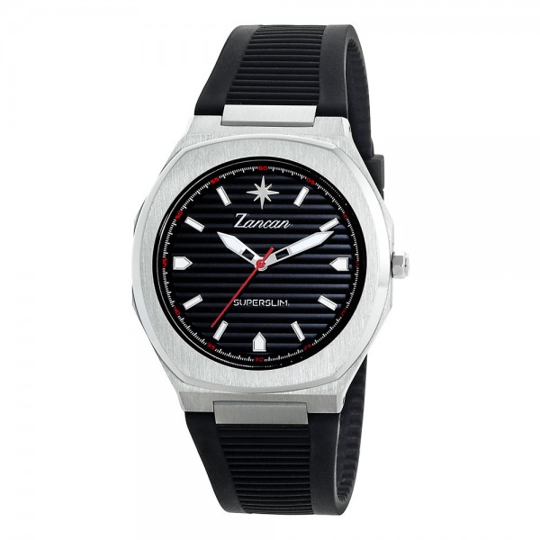 Superslim – Men's time only watch with black dial.