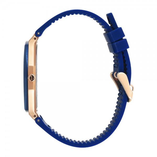 Superslim - Orologio solo tempo da uomo con quadrante blu.