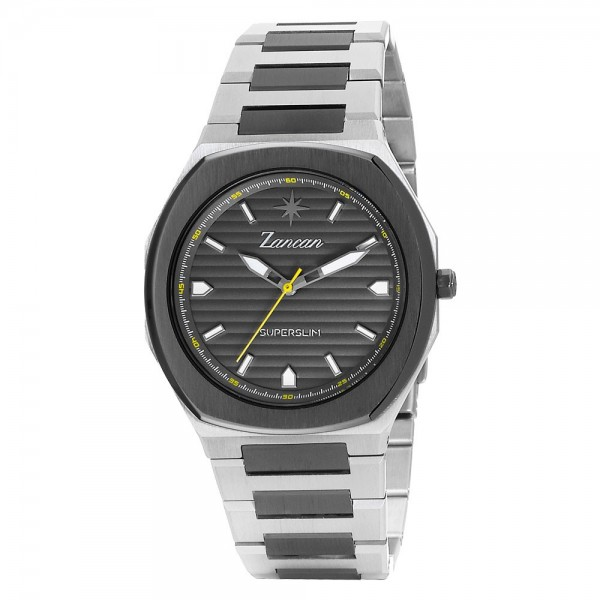 Superslim – Men's time only watch with grey dial.