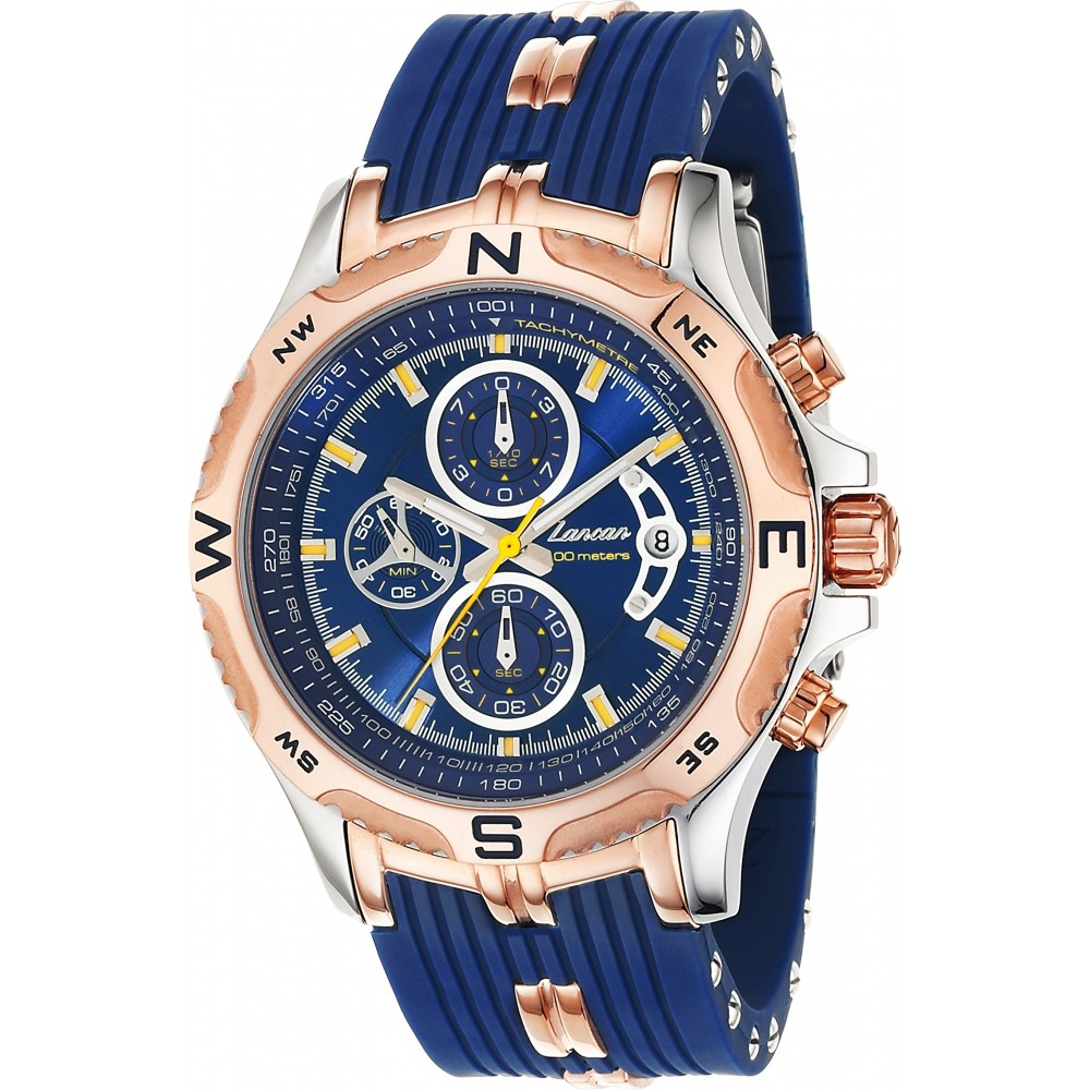 Superkompass - Chronograph watch with calendar