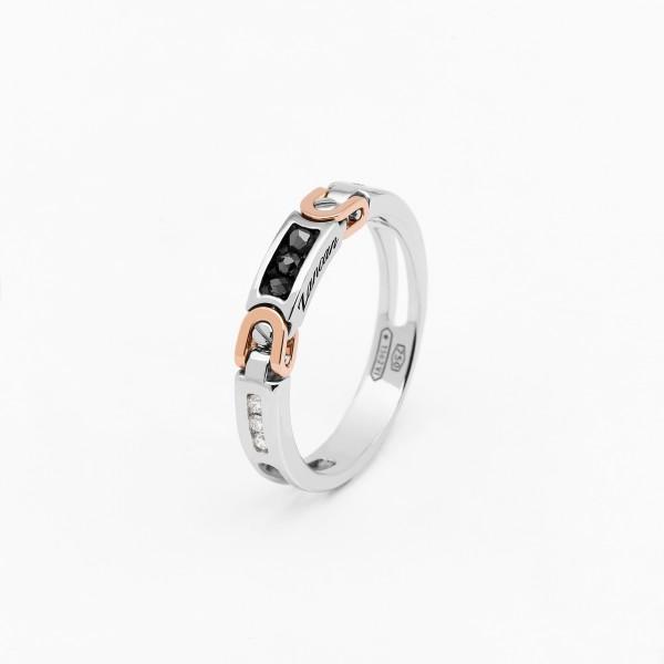 White gold men's ring