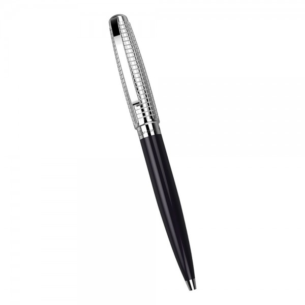 Ball point metal brass pen. Embossed texture and black PVD treatment.