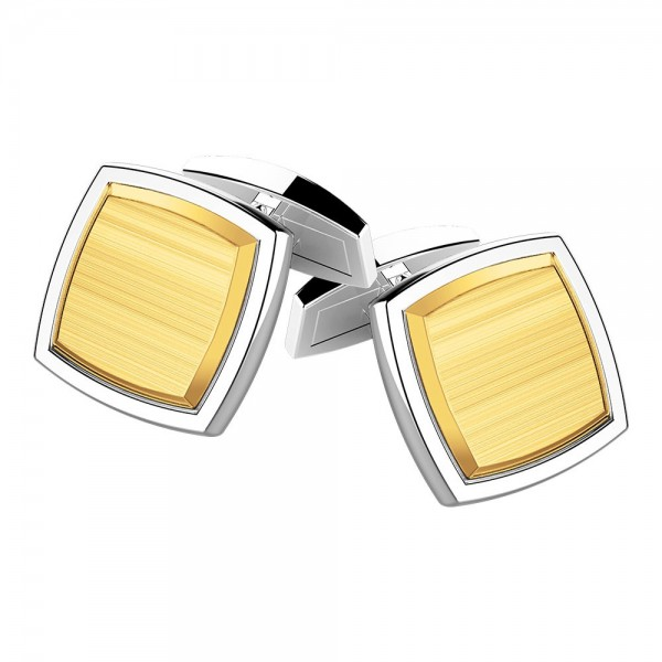 Silver and gold cufflinks.