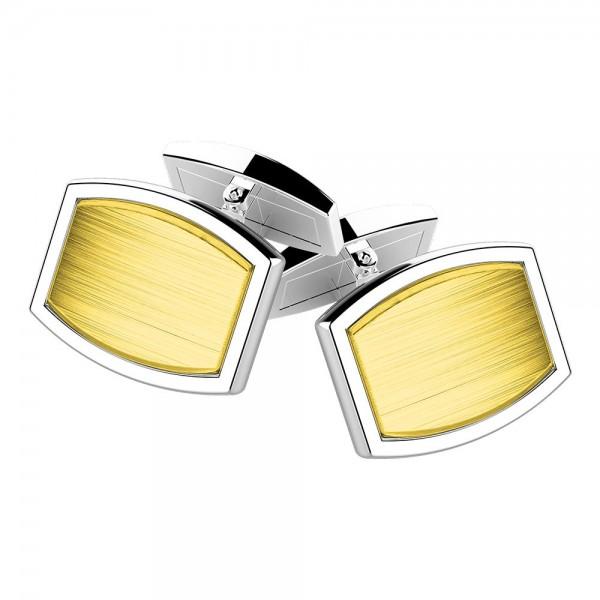 Gemelli in argento e oro.