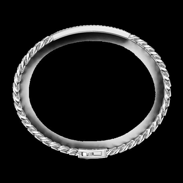 Bracciale grumetta Zancan in argento con pietre nerei.