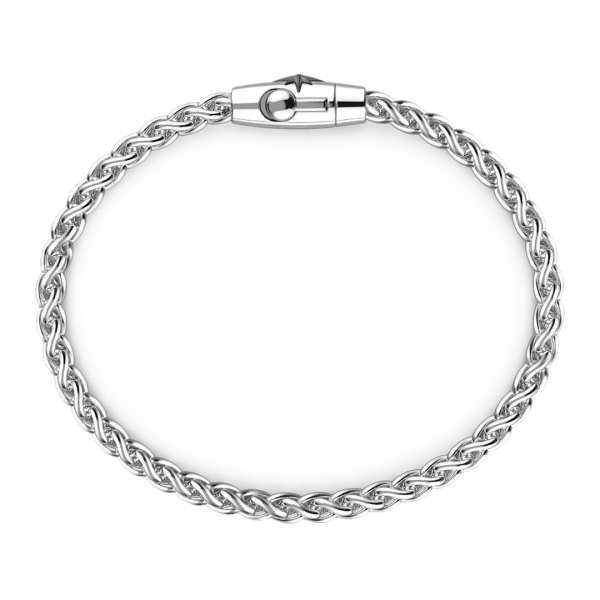 Bracciale solo maglia Zancan in argento.