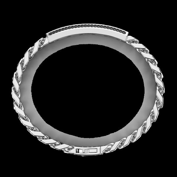 Zancan silver curb chain...