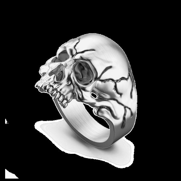 Anello teschio Zancan in argento