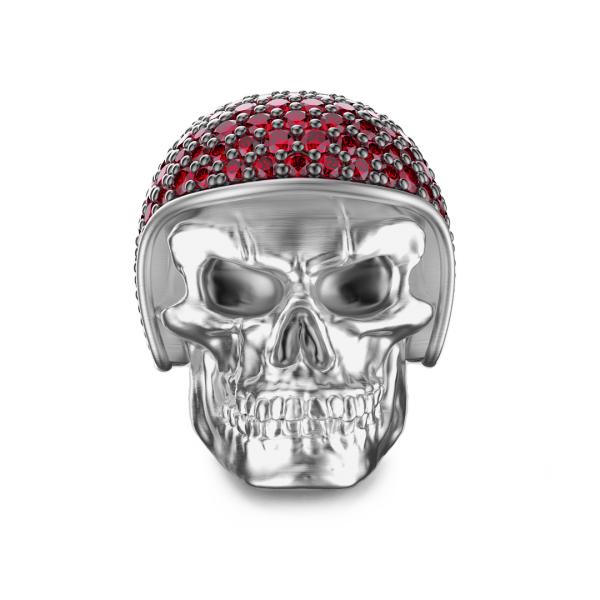 Zancan silver skull ring...