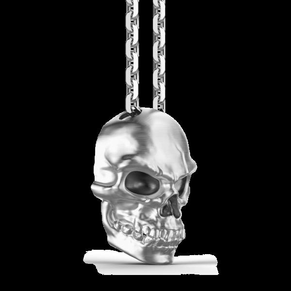 Collana Zancan in argento con pendente a teschio.