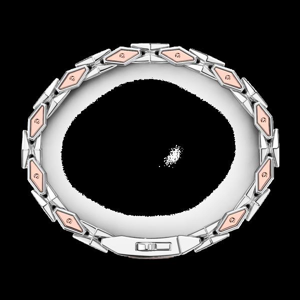 Bracciale da uomo Zancan in argento e oro rosa.