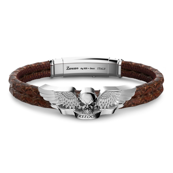 Zancan leather and silver...