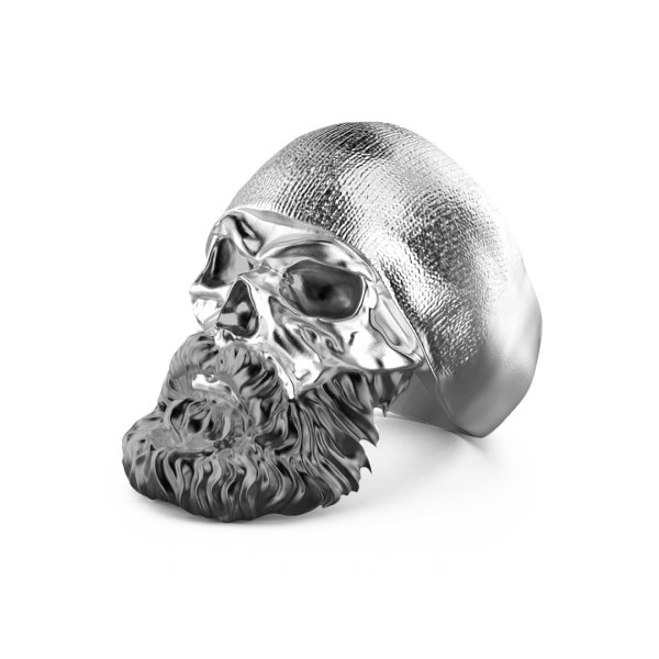 Zancan silver ring with skull.