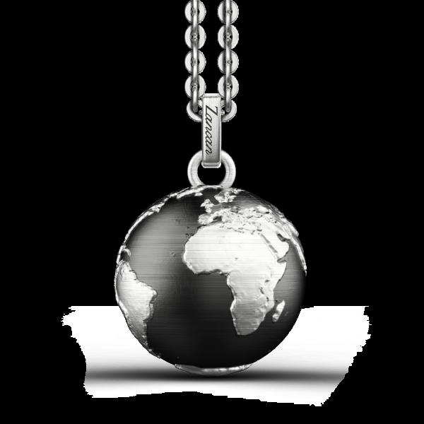 Collana Zancan in argento con pendente a globo.