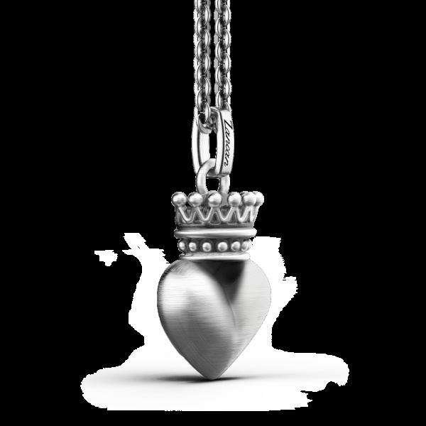 Collana Zancan in argento con cuore.