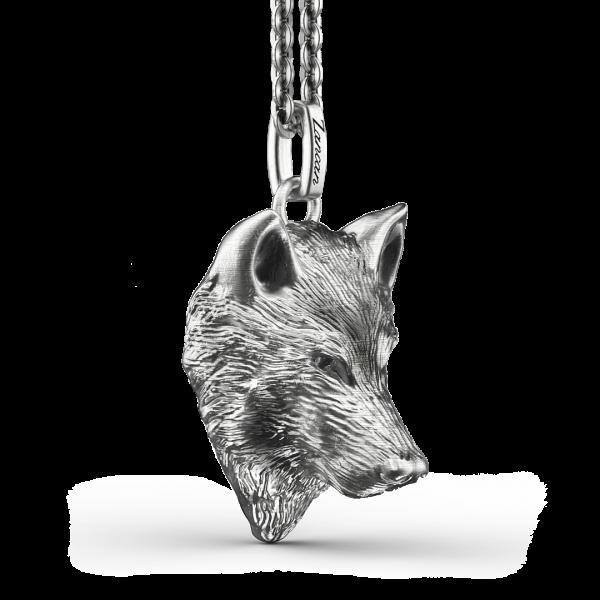 Collana Zancan in argento con lupo.