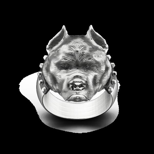 Zancan silver pit bull ring...