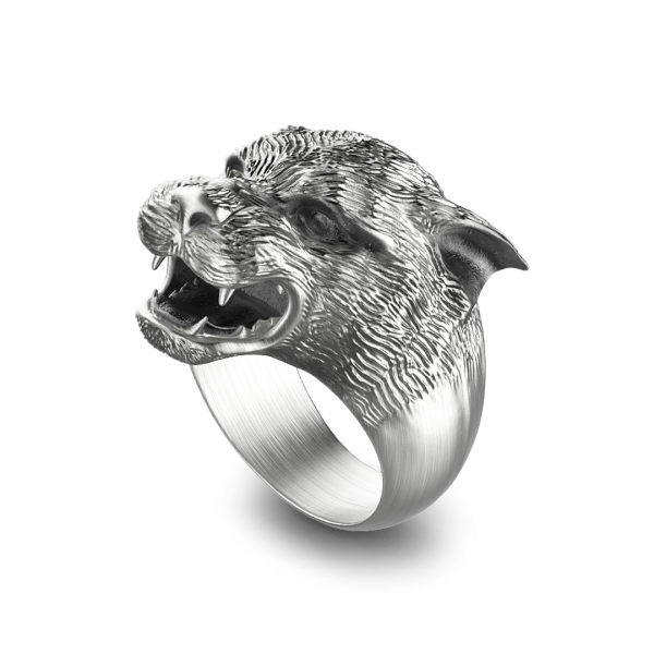 Zancan silver panther ring...