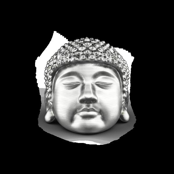 Zancan silver Buddha ring...