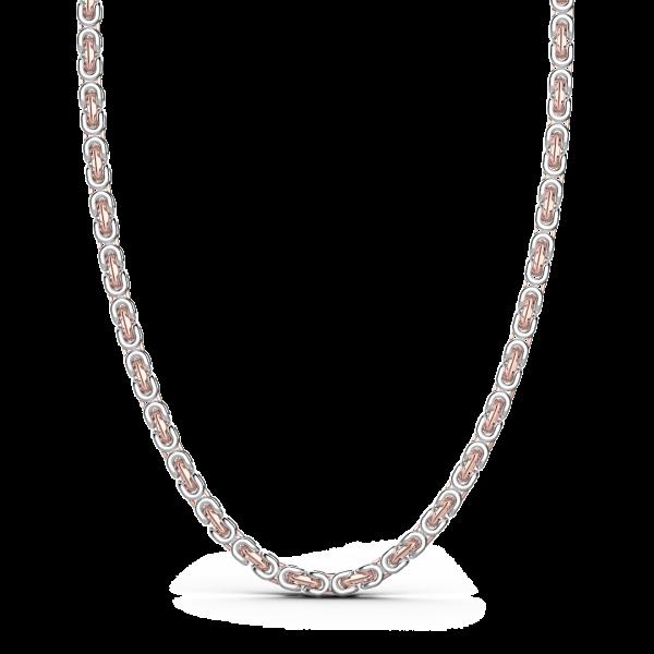 Collana da uomo Zancan a catena in argento e oro rosa.