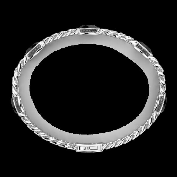 Bracciale a grumetta Zancan in argento con pietre nere.