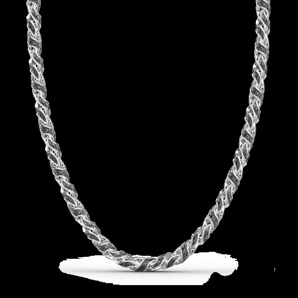 Collana Zancan in argento solo maglia.