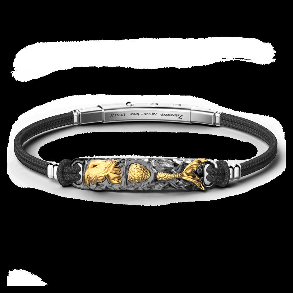 Bracciale Zancan in argento brunito con Sirena.