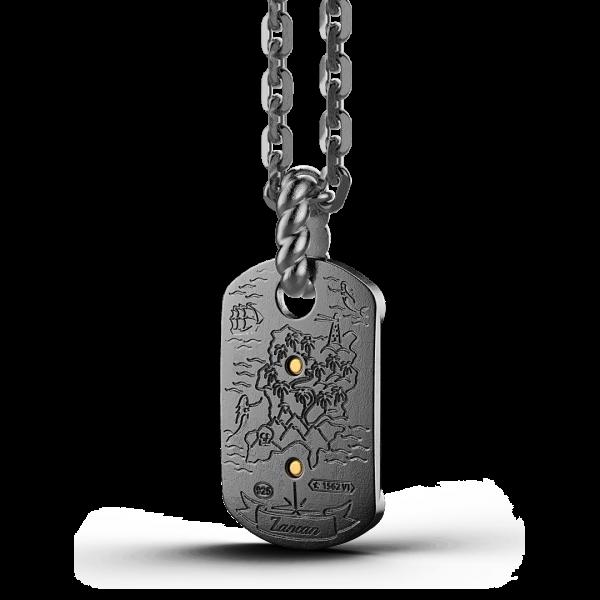 Collana Zancan in argento brunito con veliero.