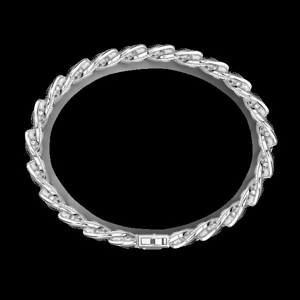 Bracciale a grumetta Zancan in argento con finitura striata in nero.