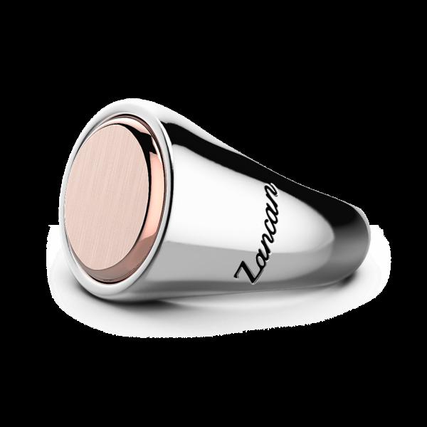 Anello Zancan circolare in argento e oro rosa.