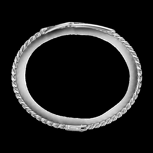 Bracciale grumetta Zancan in argento con pietre nere.