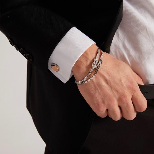 Bracciale  Zancan in oro bianco con diamanti.