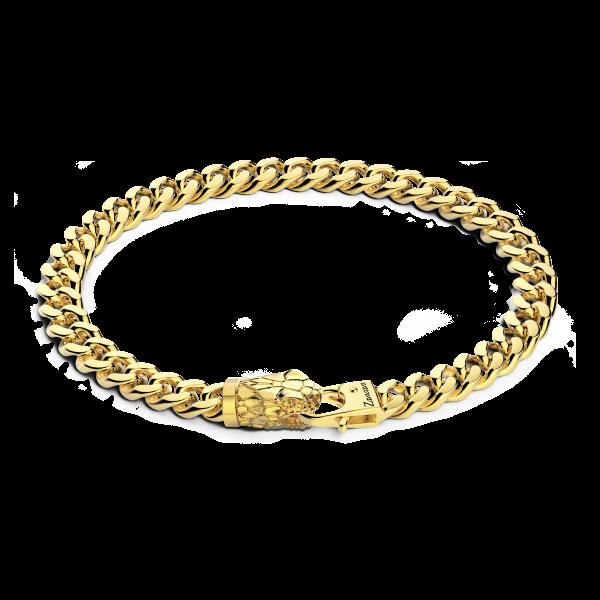Bracciale-a grumetta-zancan-in-argento-con-chiusura-a-testa-di-serpente