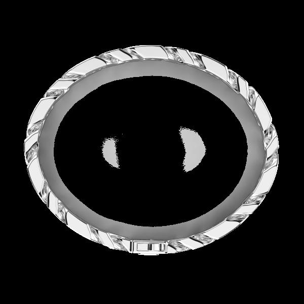 Bracciale a grumette Zanca in argento con pietre nere.