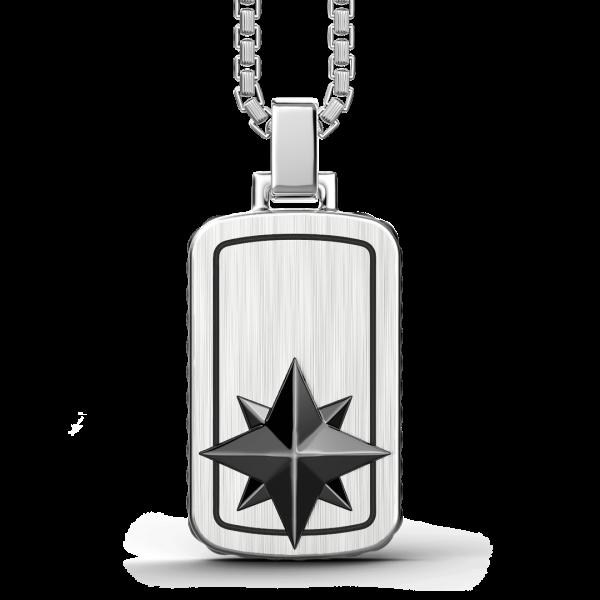 Zancan silver tag necklace...