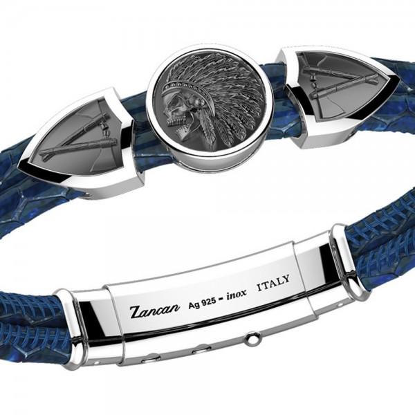 Zancan leather bracelet tag...