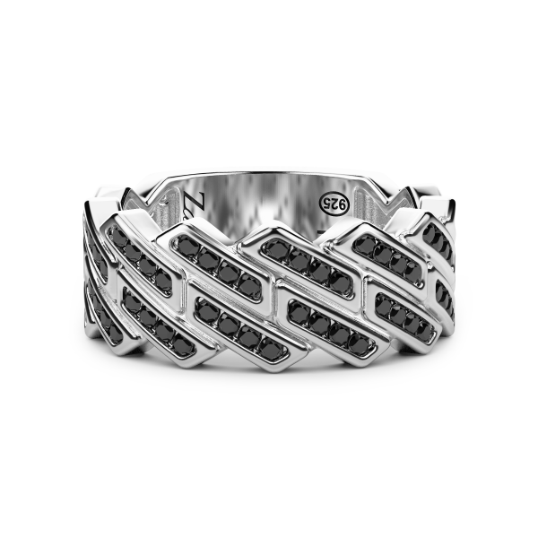 Zancan-Bandring aus Silber...