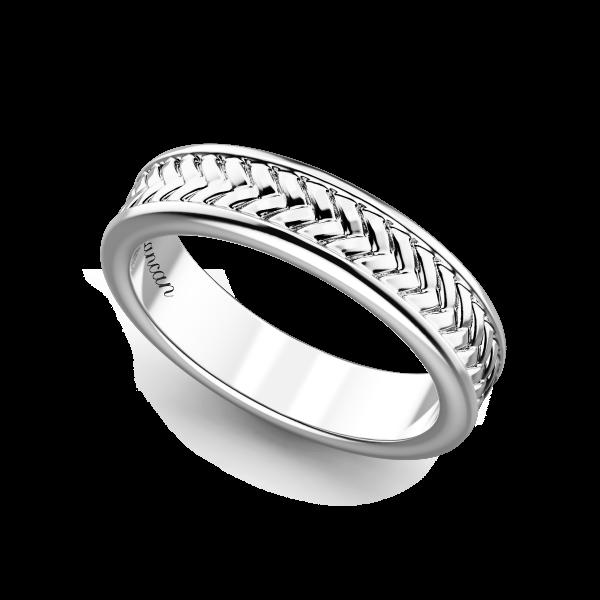 Zancan silver band ring.