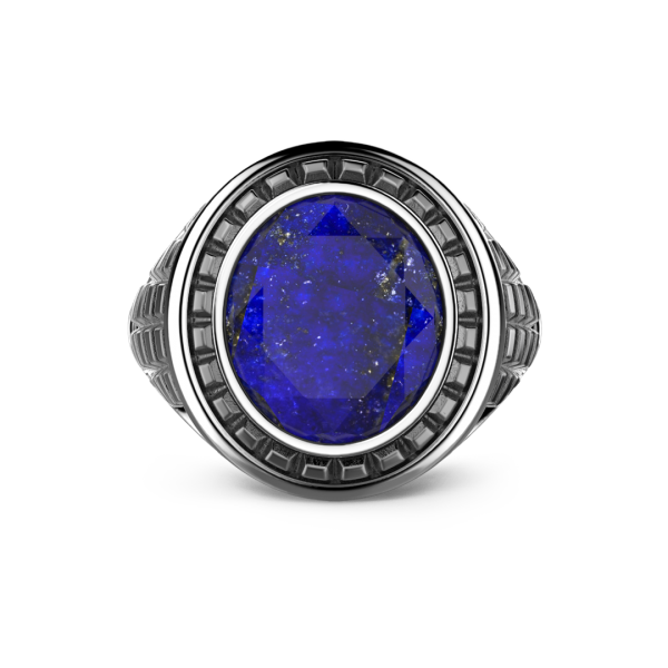 Zancan silver blue stone ring.